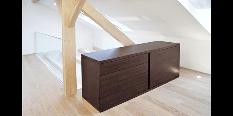 Innenausbau eines Dachstocks zu einer Wohnung
